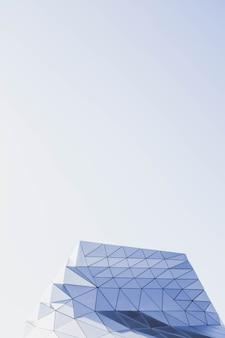 Vertikale aufnahme einer geometrischen struktur