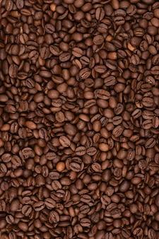 Vertikale ausrichtung des kaffeehintergrunds