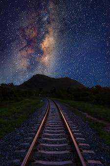 Vertikale milchstraße