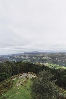 Vertikaler schuss der karawane von madrid, spanien