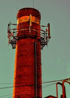 Vertikaler vintage-leuchtturmobjekthintergrund hd