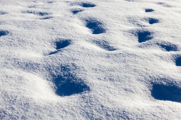 Verwehungen nach schneefall
