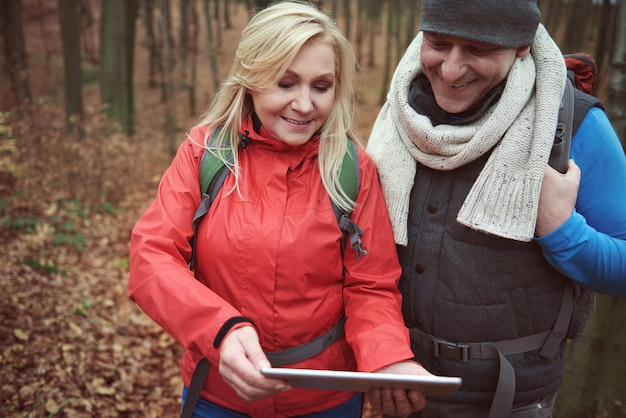 Verwenden eines digitalen tablets als karte