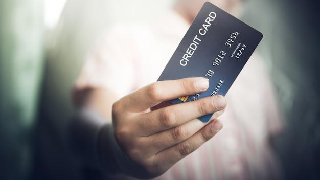 Verwenden sie kreditkarten