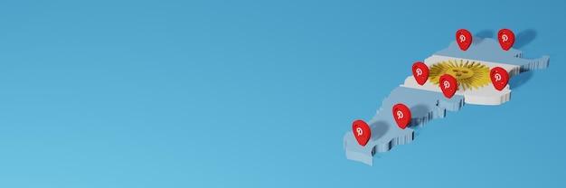 Verwendung von pinterest in argentinien für die bedürfnisse von social media tv und website-hintergrundcover