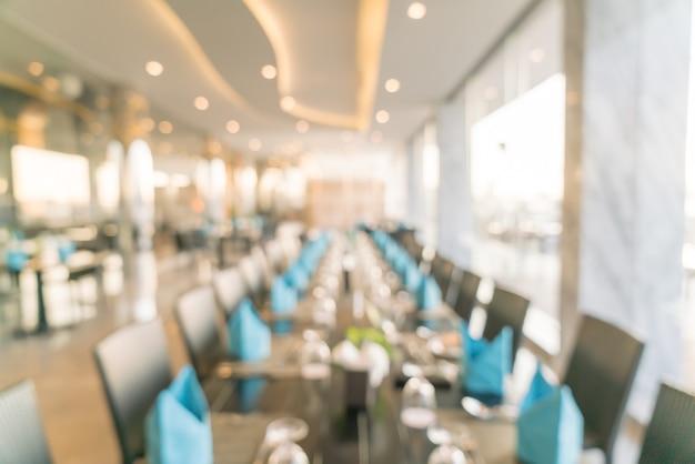 Verwischen sie das luxushotel-restaurant