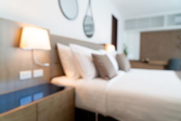 Verwischen sie den schönen luxushotelschlafzimmerinnenraum