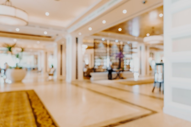 Verwischen sie die lobby des luxushotels