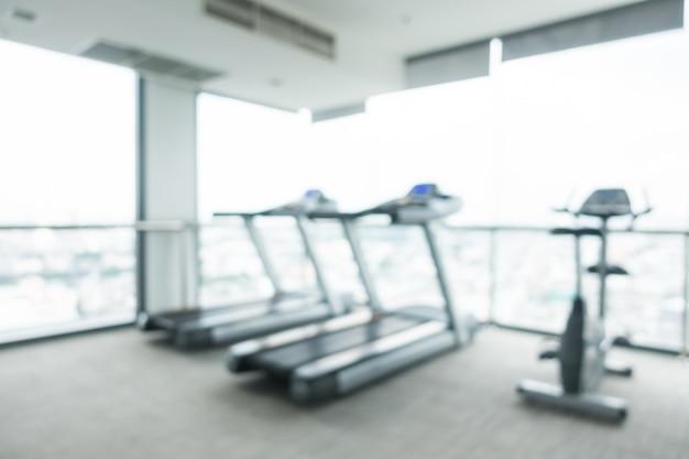 Verwischen sie fitnessstudio und fitness