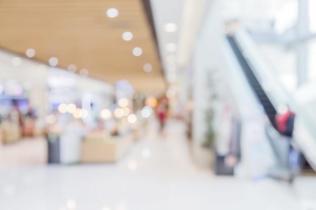 Verwischen sie hintergrundbild des einkaufszentrums oder kaufhauses mit bokeh