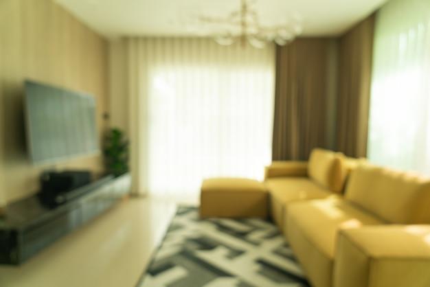 Verwischen sie modernes und luxuriöses wohnzimmer