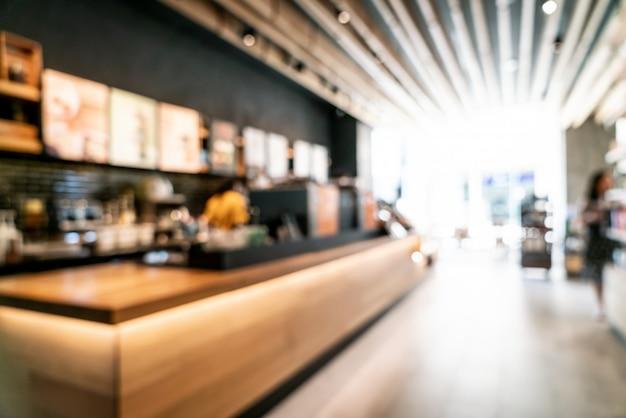 Verwischen und defokussiert in café café und restaurant