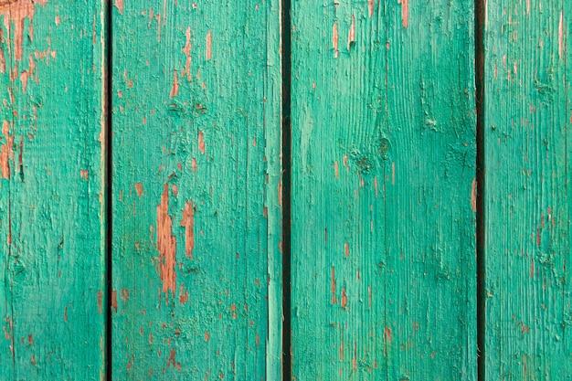 Verwitterte blaue hölzerne hintergrundtextur. schäbiges holz blaugrün oder türkisgrün lackiert. vintage strand holz kulisse.