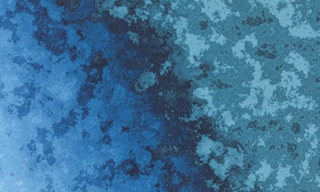 Verwitterte grüne und blaue zementwandbeschaffenheit 3d