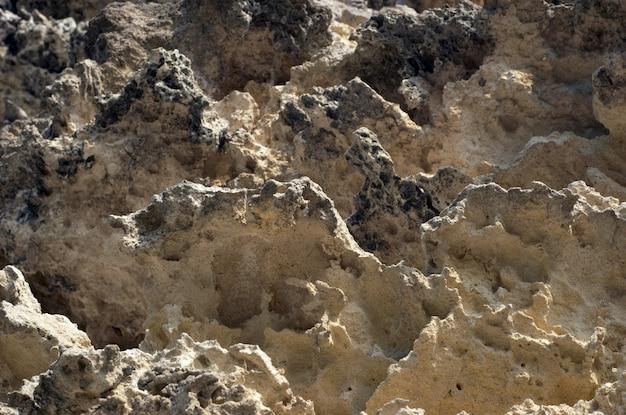 Verwitterte kalksteinfelsen