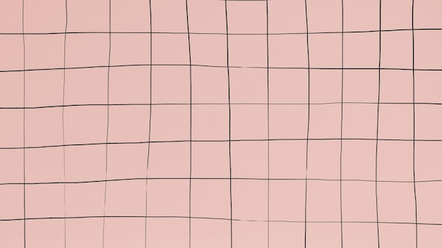 Verzerrendes gitter auf mattrosa tapete