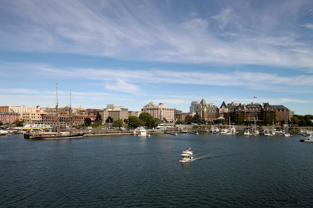 Victoria bc inner harbour stadt skyline
