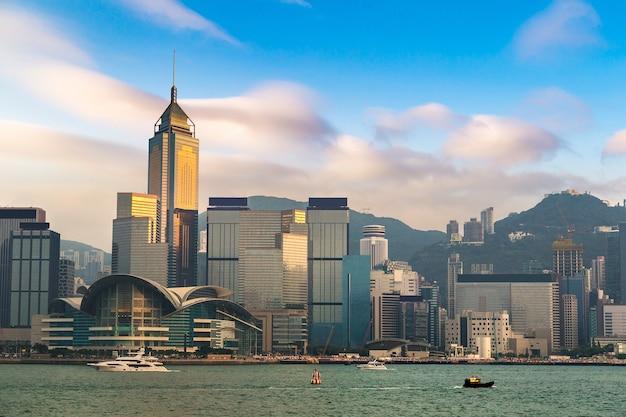 Victoria harbour in hongkong, china