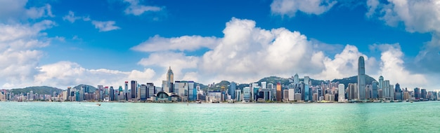Victoria harbour in hongkong in china