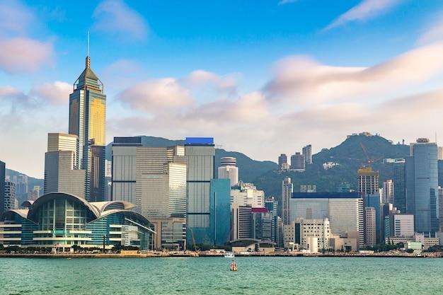 Victoria harbour in hongkong