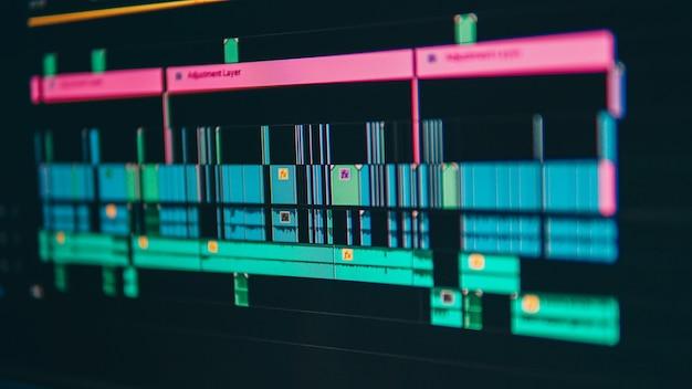 Videobearbeitung nahaufnahme