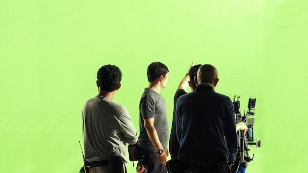 Videoproduktion hinter den kulissen making of tv-werbefilm des filmteams lightman