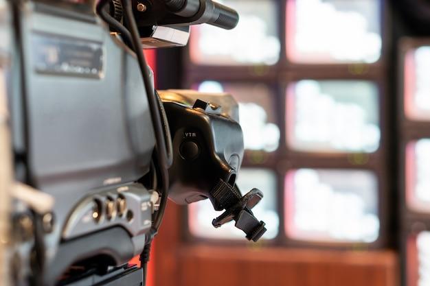 Videorecorder-kamera für fernsehlivesendung im studio