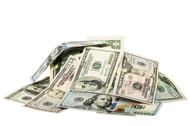 Viel geld auf dem tisch