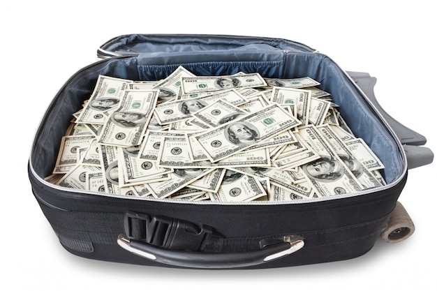 Viel geld in einem koffer