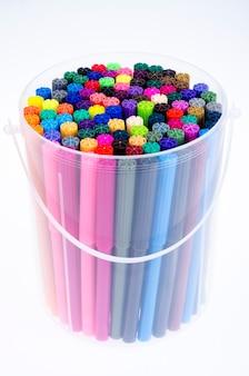 Viele farbige markierungen im paket