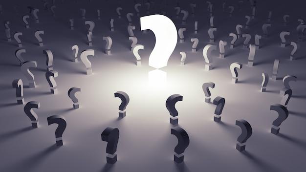 Viele fragen in einer ungewissen zukunft unbeantwortet