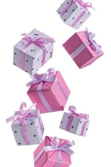 Viele geschenkboxen fliegen