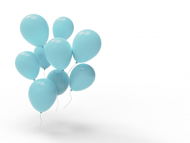 Viele himmlische luftballons mit leerzeichen