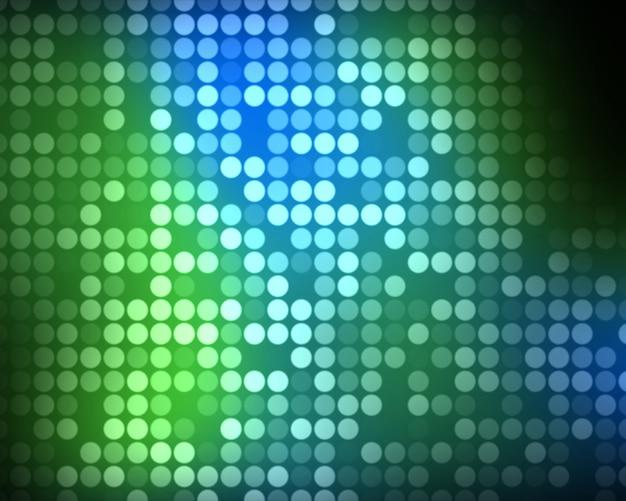 Vielfache grüne und blaue punkte