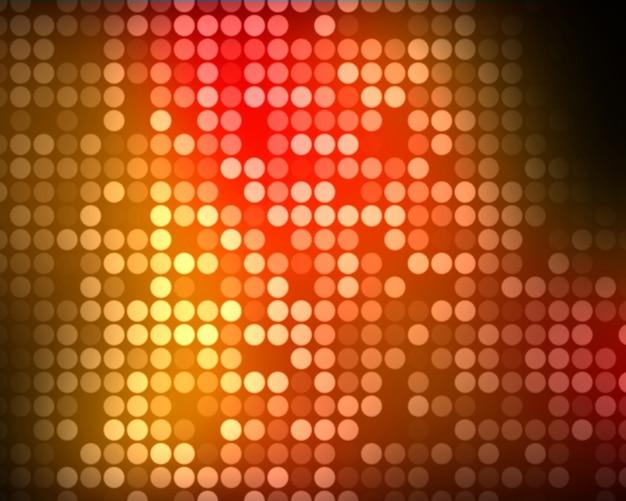 Vielfache grüne und rote und orange punkte