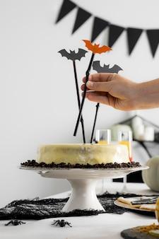 Vielfalt an leckereien für halloween-events