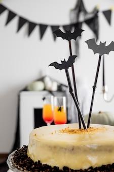 Vielfalt an leckereien für halloween-feierlichkeiten