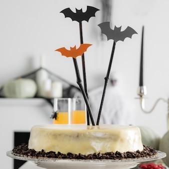 Vielfalt an leckereien für halloween-party