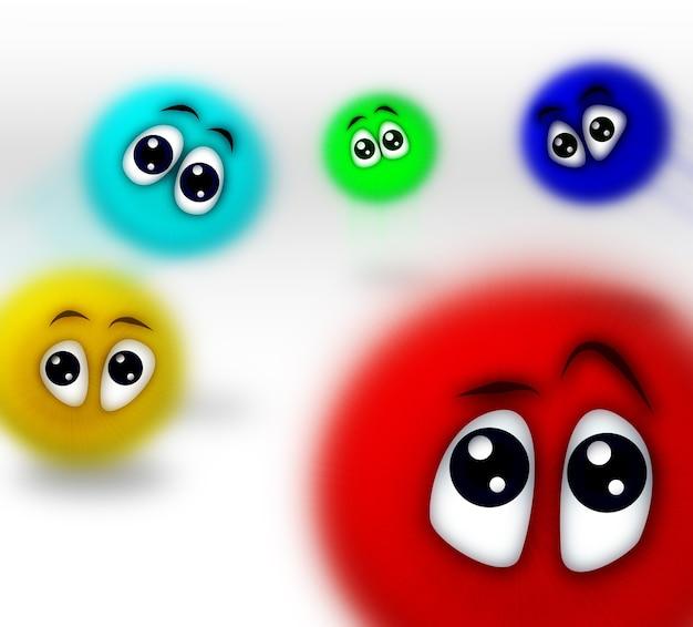 Vielfarbige cartoon-personen, die am 20. mai 2009 aufgenommen wurden