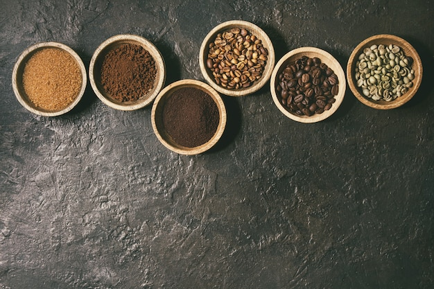 Vielzahl von kaffeebohnen