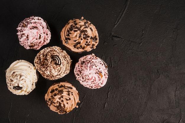 Vielzahl von leckeren muffins