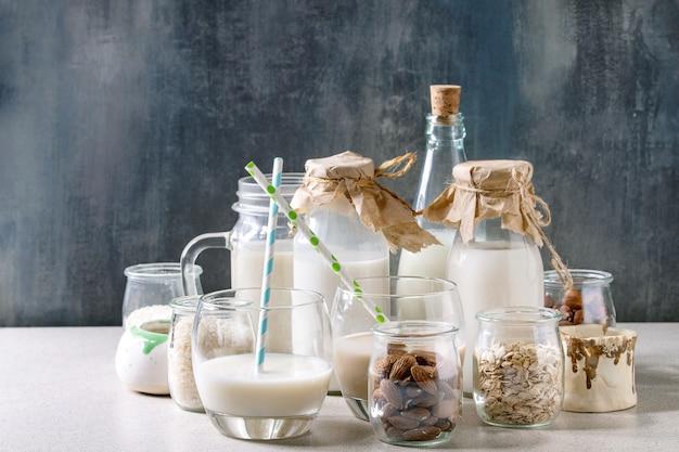 Vielzahl von nichtmilchprodukten