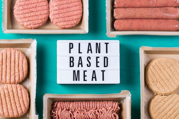 Vielzahl von pflanzlichen fleischnahrungsmitteln zur reduzierung des co2-fußabdrucks