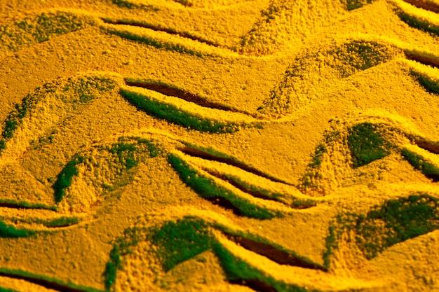 Vielzahl von sandformen flach zu legen