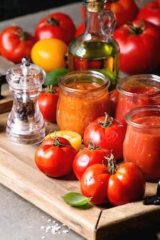 Vielzahl von tomatensaucen