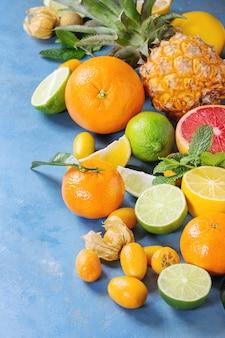 Vielzahl von zitrusfrüchten