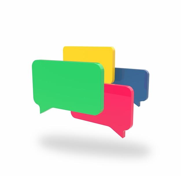 Vier chatboxen über weiß