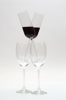 Vier gläser wein