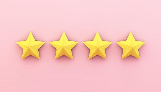 Vier sterne auf pink