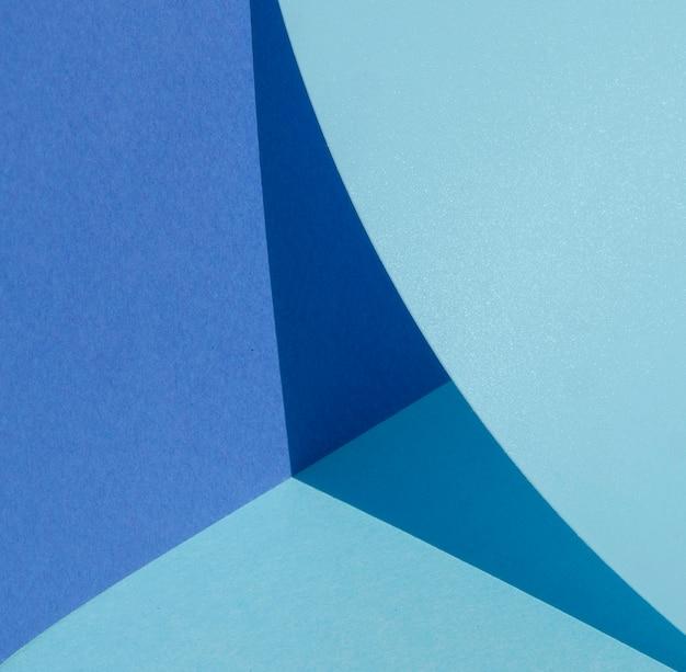 Viertel des großen kreises des blauen papiers